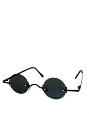 Teashade Sunglasses, Teashade Round Style 8, Black Frame / Smoke Lens