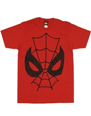 Spiderman T-Shirt, Spiderman Mask Distressed Red