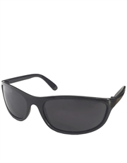 T2 Style Sunglasses, Black Frame / Smoke Lens