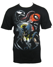Spiderman Wolverine Venom T-Shirt, Marvel Zombies Black