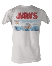 Jaws T-Shirt, Jaws Island White