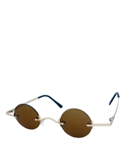 Teashade Sunglasses, Teashade Round Gold Brown Style 8