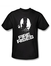 Bane T-Shirt, Bane Dark Knight Rises T-Shirt, Bane Mask Fire Rises Black