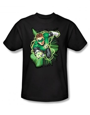 Green Lantern T-Shirt, Green Lantern Energy Black