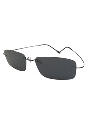 Collateral Cruise Style Sunglasses, Rimless / Smoke Lens