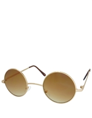 Teashade Sunglasses, Teashade Round Gold Brown Gradient Style 15
