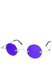 Teashade Sunglasses, Teashade Round Silver Purple Style 18