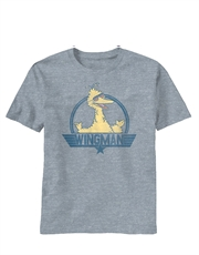 Sesame Street T-Shirt, Sesame Street Wingman Big Bird Light Grey Heathered