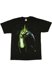 Green Lantern T-Shirt, Green Lantern Space Fist Black