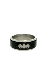 Batman Classic Shield Steel Ring