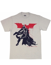 Batman T-Shirt, Dark Knight Rises T-Shirt, Spatter Paint Grey