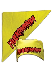 Hulk Hogan Costume, Hulk Hogan Hulkamania Bandana Yellow