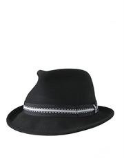 Stingy Fedora Crushable, Wool Felt Hat, Black