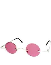 Teashade Sunglasses, Teashade Round Silver Pink Style 18