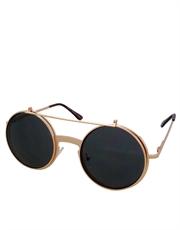 Teashade Sunglasses, Flip Large Style 22, Gold Frame / Smoke Lens