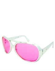 Elvis Sunglasses, Elvis Chrome Pink Style 4