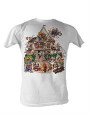 Animal House T-Shirt, Full House White