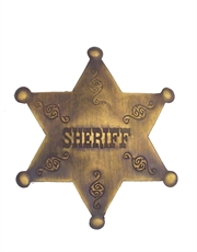 Western Cowboy Sheriff 2 Badge