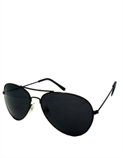 B. Instinct Douglas Style Aviator Sunglasses, Black Frame / Smoke Lens