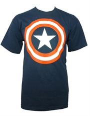 Captain America T-Shirt, Captain America Shield Navy Blue