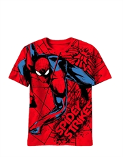 Spiderman T-Shirt, Spiderman Kids T-Shirt, Amazing Spiderman Movie Web Strike Red