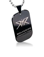 X-Men Wolverine Black Dog Tag Necklace