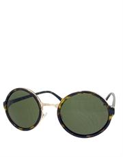 Teashade Sunglasses, Teashade Round Gold Tortoise Green Style 19