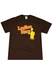 Simpsons T-Shirt, Simpsons Homer Ladies Man Brown