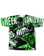Green Lantern T-Shirt, Green Lantern Mighty Power White
