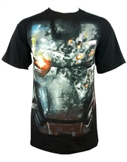 Iron Man T-Shirt, Iron Man War Face Black