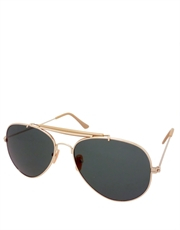 Expendable Style Aviator Sunglasses, Gold Frame / Smoke Lens