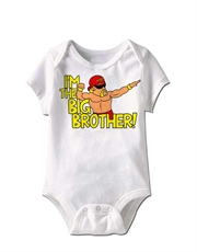 WWE Bodysuit, WWE Baby Bodysuit, Hulk Hogan Big Brother White