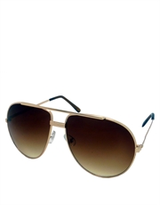 Depp Blow Style 2 Sunglasses, Gold Frame / Brown Gradient Lens