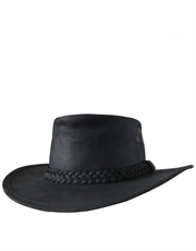 Bushman Leather Black Hat