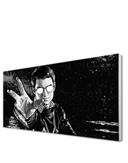 He Never Screams, Black & White Canvas Art
