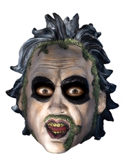 Beetlejuice Costume Accessory, Mens Beetlejuice 3/4 Mask With Sculpted Hair