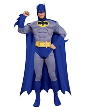 Batman Costume, Mens Batman Brave Bold Muscle Costume