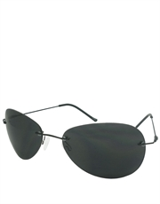 Horatio Style Sunglasses, Rimless / Smoke Lens