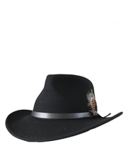 Outback Crushable, Wool Felt Hat, Black