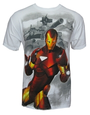 Iron Man T-Shirt, Iron Man Tank White