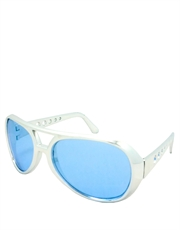 Elvis Sunglasses, Elvis Chrome Blue Style 4