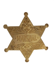 Western Cowboy Marshal Badge