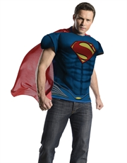 Man Of Steel Costume, Mens Superman Muscle Costume Top
