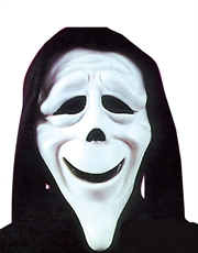 Scary Movie Costume Accessory, Mens Ghost Face Stoned Mask