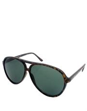 Casino Ace Style Aviator Sunglasses, Tortoise Frame / Smoke Lens