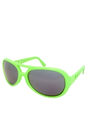 Elvis Sunglasses, Elvis Neon Lime Green Smoke Mirrow Style 5
