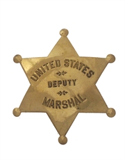 Western Cowboy US Deputy Marshal Badge
