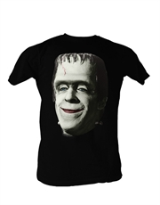 Munsters T-Shirt, Munsters Herman Munster Frankinsmile Black