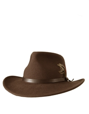 Outback Crushable, Wool Felt Hat, Khaki