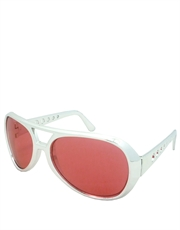 Elvis Sunglasses, Elvis Chrome Red Style 4